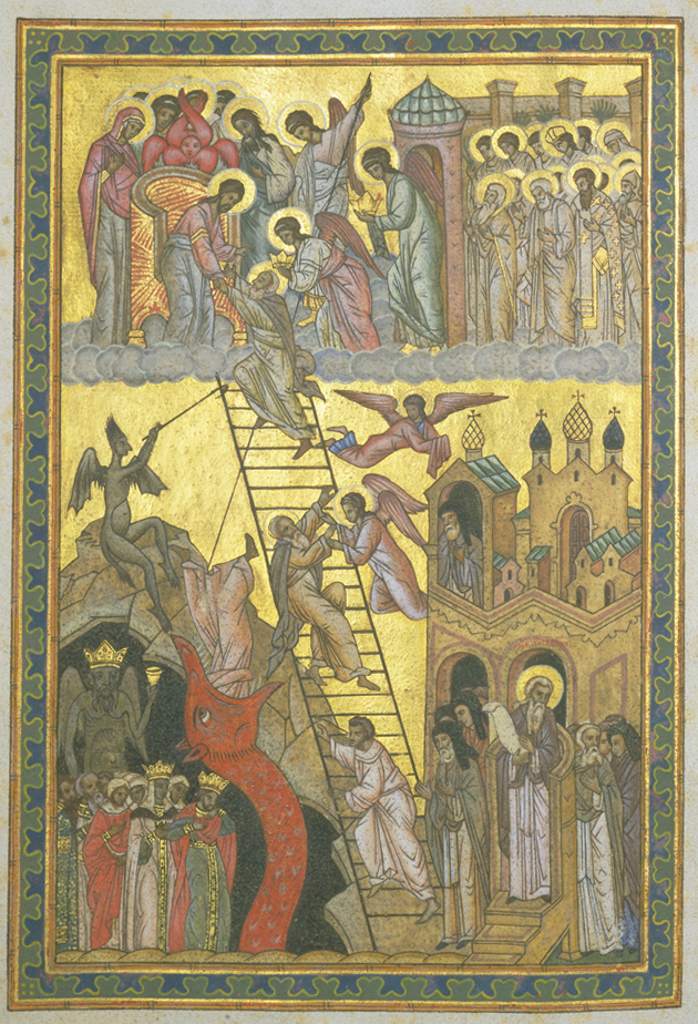 Lestnitsa [The Ladder of Divine Ascent] Manuscript Russia, 16th century NYPL, Spencer Collection